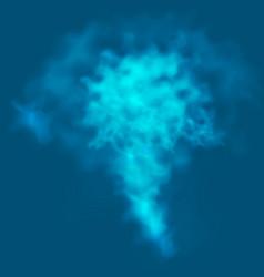 smoke fog on a dark blue background vector image