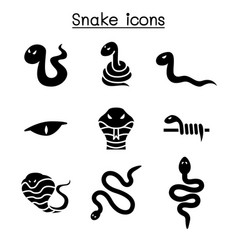 snake icon set vector image
