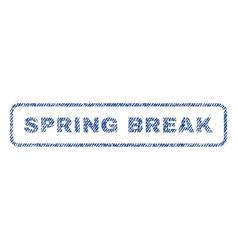 Spring break textile stamp vector