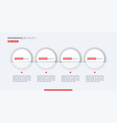 stylish infographic concept template four vector image