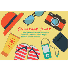 summer beach flat designholiday vector image