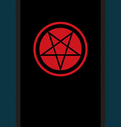 The pentacle of dark art vector