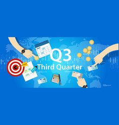 Third quarter business report target corporate vector