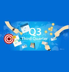 Third quarter business report target corporate vector
