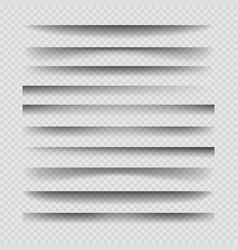 Transparent divider shadows vector