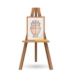 Unfinished vase on isolated vector