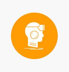 Vr googles headset reality virtual white glyph vector