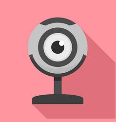 web camera icon flat style vector image