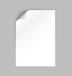 White a4 format paper sheet with left corner vector