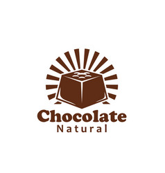 chocolate bar or cocoa candy label for food design vector image