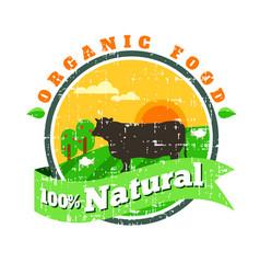 organic fresh product logofarm fresh vector image vector image