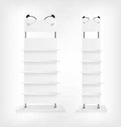 Shop shelves white vector image