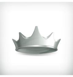 Silver crown vector image