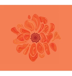 Artistic abstract flower vector image