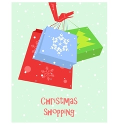 Christmas shopping card vector image