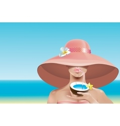 Sexy face in hat vector image vector image