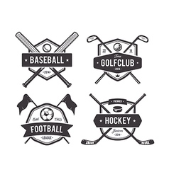 Sport Emblems 1 vector image vector image