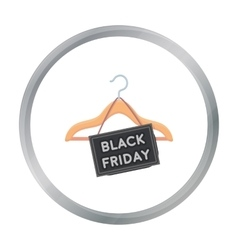 Black friday sale icon in cartoon style isolated vector image vector image
