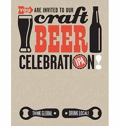Craft Beer Invitation vector image