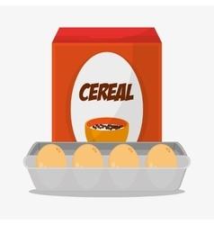 Eggs and breakfast design vector