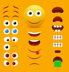 emoji creator design collection vector image