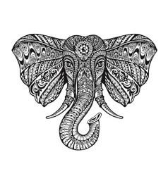 Ethnic ornamented elephant vector