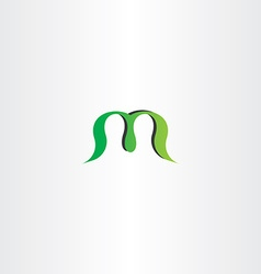 green logotype logo m letter m sign icon vector image vector image