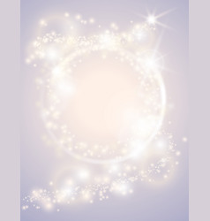 abstract glow light spark circle frame bright vector image