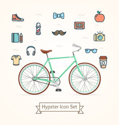 bike and icon hypster concept vector image