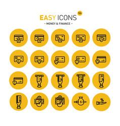easy icons 12c money vector image vector image