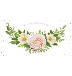 flower wreath bouquet design object element vector image vector image