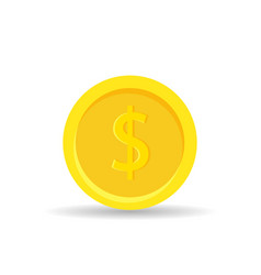 golden coin icon isolated on white background - vector image