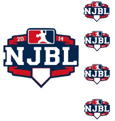 njbl logo vector image vector image