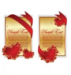 red hearts banner vector image vector image