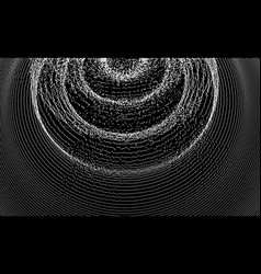 3d wavy background with ripple effect grid black vector