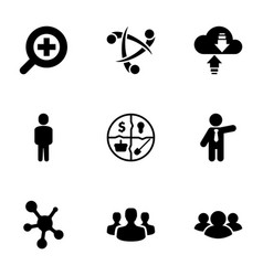 9 social icons vector image