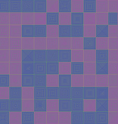 Abstract concentric square mosaic background vector image