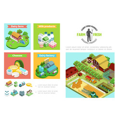 agriculture and farming infographic template vector image