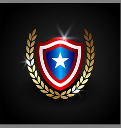 american shield template vector image