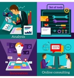 Analysis Innovation Online Consulting Set Tools vector