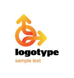 Arrow type logo design vector