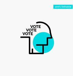 Ballot election poll referendum speech turquoise vector