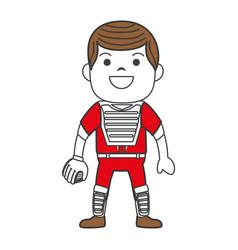 Baseball player catcher avatar character vector