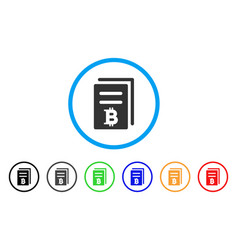 Bitcoin price copy rounded icon vector