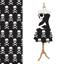 Black halloween dress vector