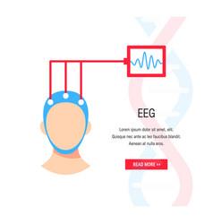Brain waves concept vector