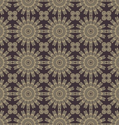 Brown abstract flowers vector