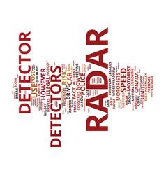 Car radar detector debate to legalize or not vector