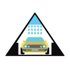 car wash emblem and symbol vector image