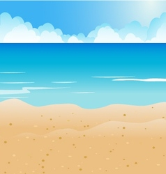 Cartoon Beach and blue sea background vector image